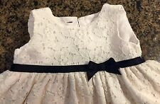 CARTER'S BABY GIRL 3 MONTHS LACE DRESS WITH BOW NWOT! ADORABLE!