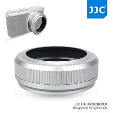 JJC Silver Metal Lens Hood fr Fujifilm X70 Camera+49mm Adapter Ring as LH-X70 V2