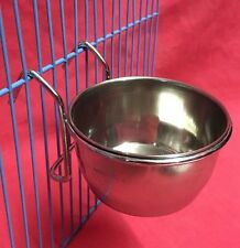 Small Animals Birds Cage Clip On Water Food Bowl Countainer 2 Hook Coop Cup 7cm