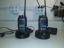 2 Motorola Aah25Rdf9Aa5An Ht 1250 4 Watt Uhf 16 ch Portable Free Programming