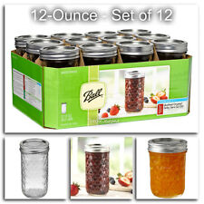 12oz Ball Mouth Mason Canning Jars Lids Bands Wedding Preserves Jelly Jar Lid 12