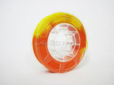 Temperature Color Changing Orange to Yellow PLA 3D Printing Filament 1.75mm 225g
