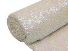 """White SEQUINED FABRIC Bolt 54"""" x 4 yards DIY Wedding Party Crafts Costume Sew"""