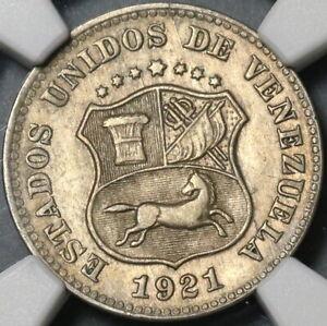 1921 NGC AU 55 Venezuela 5 Centimos Horse Coin (21062102C)