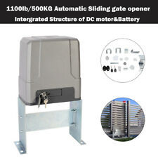 1100lb 500kg Electric Sliding Gate Opener with 150W Dc Motor Solar Compatible