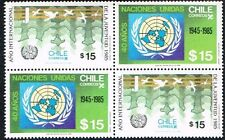 CHILE 1985 STAMP # 1142/3 MNH TWO SERIES YOUTH INTERNATIONAL YEAR