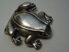 Vintage Gürtelschnalle Buckle Silber Schnalle Frosch Frog  Gürtel Accessoires