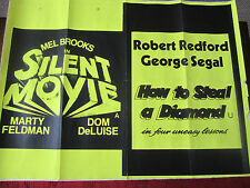 Silent Movie / How To Steal A Diamond In Four  : Original  UK Quad Poster