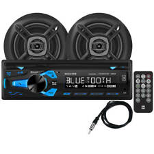 New Dual 200 w Marine Cd Receiver with Two 6-1/2 in Speakers