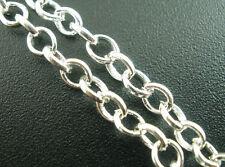 4M Chaîne Maille Forçat Pour Collier Bracelet Bijoux Accessoire 3.8x3.8mm