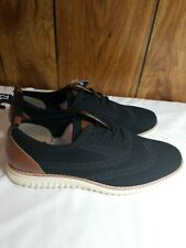 New GEORGE MENS BLACK BROWN LACE UP SHOES SIZE 12 MEMORY FOAM Mesh Fabric Dress