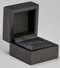 Genuine wood Ring Box matt Black Engagement Wedding Proposal Present Box