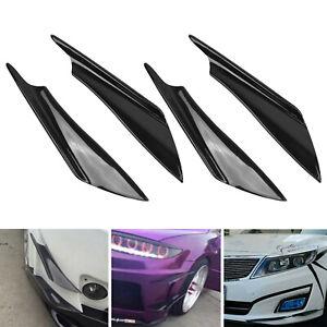 4X Universal Front Bumper Lips Splitters Fins Body Spoiler Canard Splitter Trims