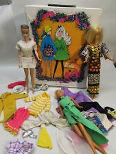 Vintage Barbie 60's lot W/ doll Case Accessories clothes & 3 Figures Midge