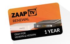 ZaapTV 1 Jahr Verlängerung für HD409N, HD509N