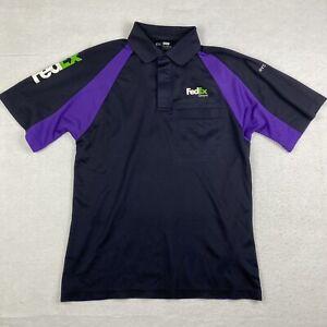 Men's Stan Herman / FedEx Ground Black Uniform Short Sleeve Polo Shirt - Size M