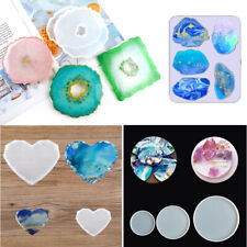 Silicone Epoxy Resin Moulds Coaster Moulding Jewellery Ashtray Tray Mould Mold