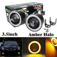 "2PCS 3.5"" COB LED Fog Light Projector Car Amber Angel Eyes Halo Ring DRL Lamp"