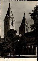 Freising Bayern s/w Postkarte 1958 Partie am Dom St. Maria und St. Korbinian
