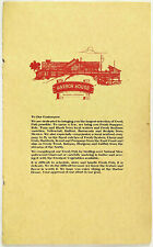 Vintage Full Size Dinner & Wine List Menu CHART HOUSE RESTAURANT San Diego CA