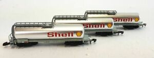 Marklin 82201 Set Three SHELL Chrome Tank Cars SBB Z 1:220 Scale - NIB