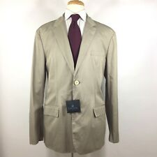 Lanvin Made in France Unstructured Cotton 2Btn Jacket Vent Beige US 44 R NWT