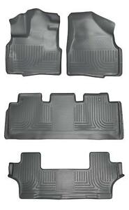 Husky Liners Gray Front & 2nd & 3rd Row Floor Mats for 11-17 Honda Odyssey