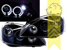 LED Angel Eyes Scheinwerfer für Opel Corsa C Combo C schwarz