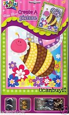 Bling Bling Picture HAPPY BUMBLEBEE Sequins Craft Kit ~ NO Glue Required Ages 5+