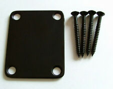 Black Neck Plate with Screws for Strat Guitar