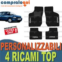 TAPPETI PER OPEL CORSA B (93-00) MOQUETTE con FONDO in GOMMA + 4 RICAMI TOP