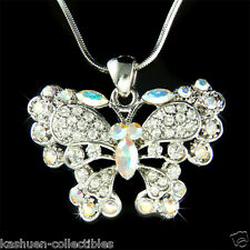 Butterfly made with Swarovski Crystal Bridal Bridesmaid Wedding Jewelry Necklace
