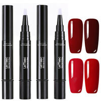 LEMOOC 5ml 4Pcs Nagel Gellack Nail Art Gel UV Nagellack Soak off Nail Art Rot