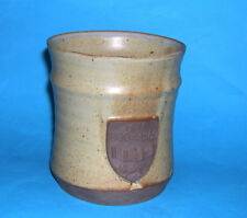 Le Dieu Studio Pottery -Attractive Large Badged Centennial Tankard H.H 1880-1980