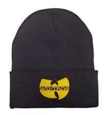 Adults Boys/Girls Wu-Tang Clan Yellow Logo Beanie Hat in Black, fast  post 24-48