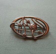 Sterling Silver Charles Rennie Mackintosh  Style  Rose Brooch
