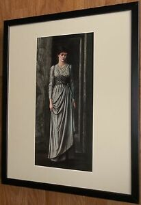 Lady Windsor by Sir Edward Burne-Jones, 20''x16'' frame, Classic Portrait art