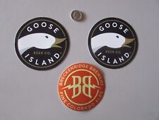 NEW Breckenridge Brewery Colorado Pine Ale Goose Island Beer Tap Stickers Lot