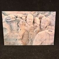 Vintage Post Card Pottery Figurines of 2000 odd Years Being Unearthed XIAN China