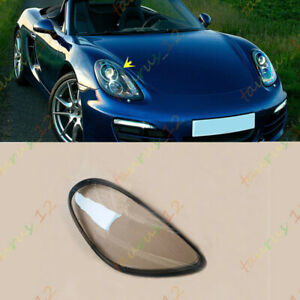 Right /Passengers Side Headlight Covers Clear Pc+Glue For Porsche Boxster 12-16