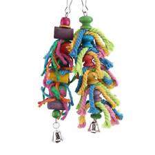 Parrot Rope Hole Ladder Hammock Swing Multiple Colour Stand Pet Cockatiel Bird