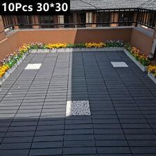 More details for 10x wpc tiles garden outdoor decking boards anti slip waterproof patio flooring