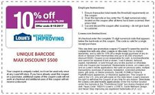 Printable Lowe's 10 Off