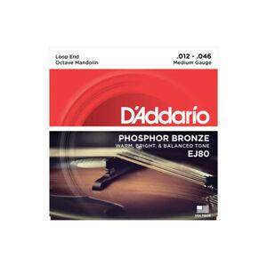 D'Addario Phosphor Bronze EJ80 12-46 médium - Jeu de cordes Mandoline octave