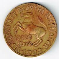 GERMANY NOTGELD 1923 10000 MARK VOM STEIN WEIMAR INFLATION COIN 44mm