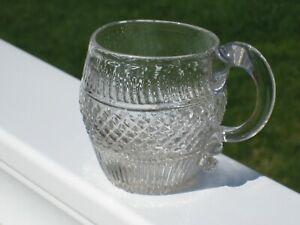 "Sandwich Blown Three Mold Flint Glass Cup ca.1820-30's - 2 3/4"""