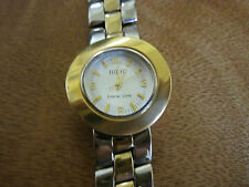 #505  ladys sterling silver and gold plate ecclissi watch bracelet