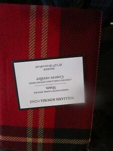 Williams Sonoma Parker plaid flannel red standard sham New