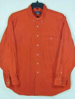 Mens Trader Bay Cotton Corduroy Button Down Long Sleeve Medium Weight Shirt XL