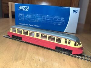 Dapol 4D-011-003 BR Crimson & Cream Streamlined Railcar W14 dcc fitted